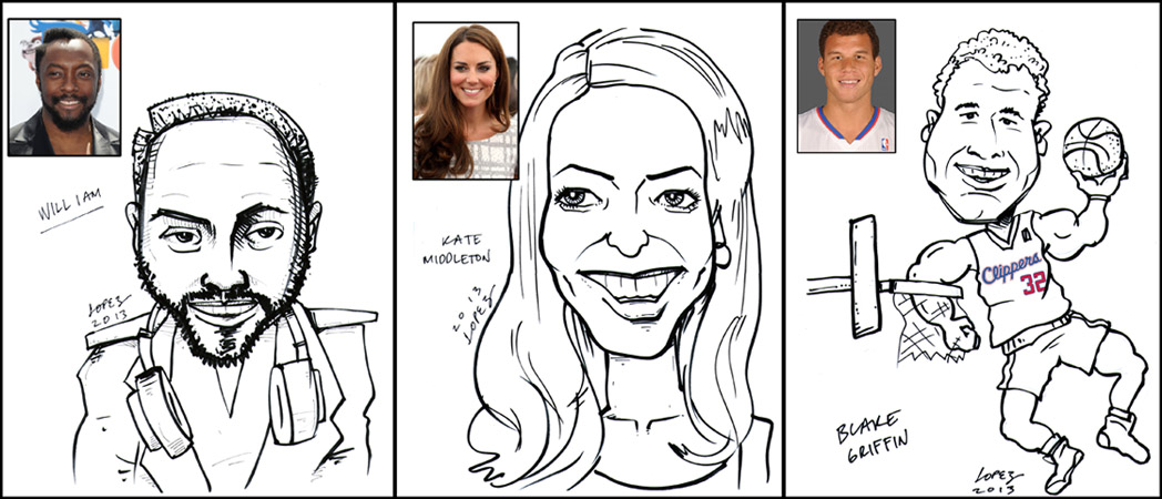 caricature art by california graphic designer lyle lopez